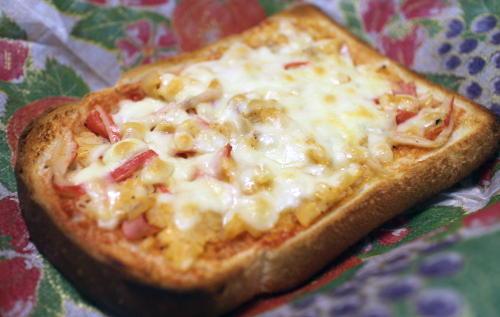 今日のキムチ料理レシピ:カニカマキムチトースト