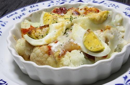 今日のキムチ料理レシピ:カリフラワーとキムチのチーズ焼き