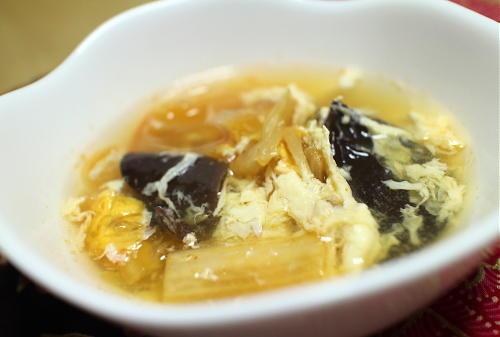 今日のキムチレシピ:きくらげとキムチの卵スープ