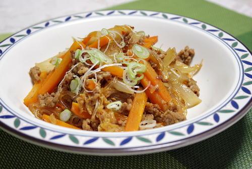 今日のキムチ料理レシピ:ピリ辛春雨