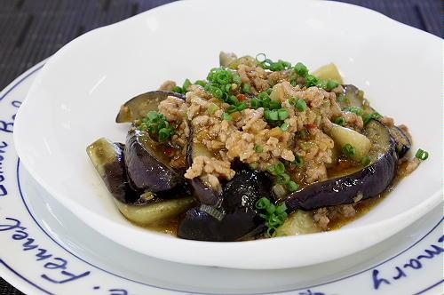 今日のキムチ料理レシピ:麻婆茄子風♪茄子のキムチひき肉炒め