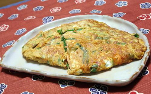 今日のキムチ料理レシピ:キムチ入りニラ玉