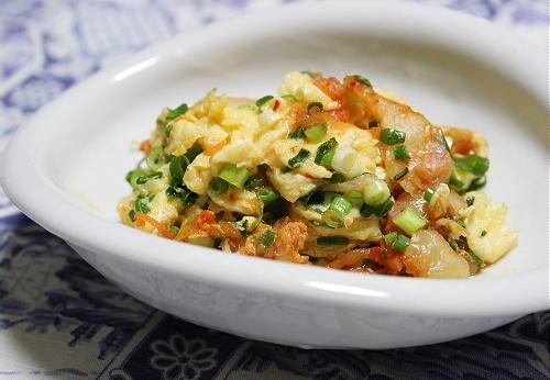 今日のキムチ料理レシピ:キムチの卵焼き
