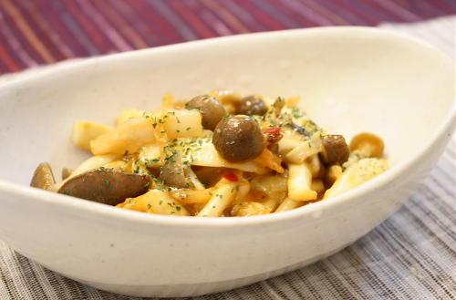 今日のキムチ料理レシピ:きのことキムチのチーズ焼き