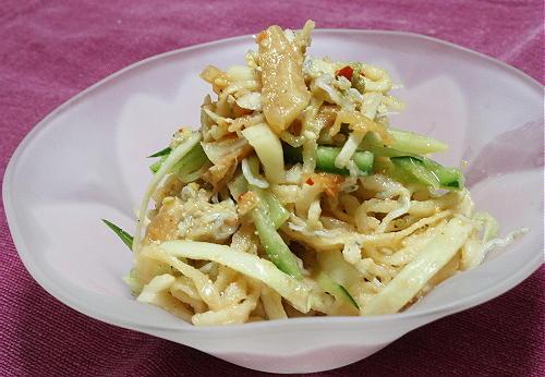 今日のキムチ料理レシピ:切干し大根とキムチの和え物