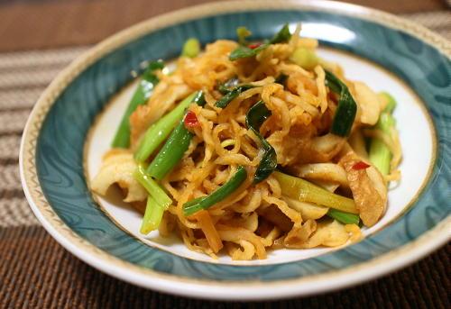 今日のキムチ料理レシピ:切り干し大根とちくわのピリ辛煮