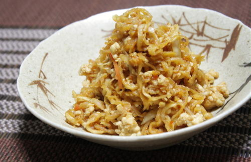 切干し大根のピリ辛鶏ひき肉炒め煮レシピ