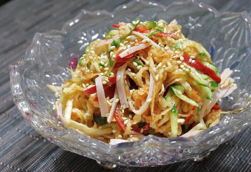 今日のキムチ料理レシピ:切り干し大根のピリ辛サラダ