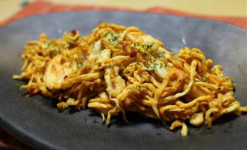 今日のキムチ料理レシピ:ささみと切り干し大根のキムチカレーマヨ炒め