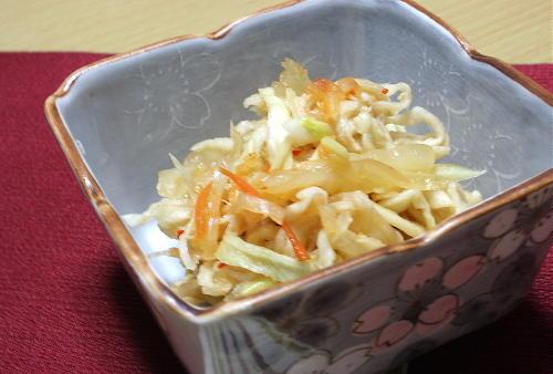 今日のキムチ料理レシピ:切り干し大根とキムチの甘酢和え