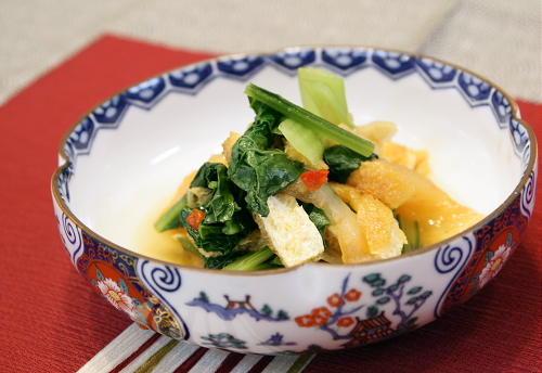 今日のキムチ料理レシピ:小松菜とキムチの煮びたし