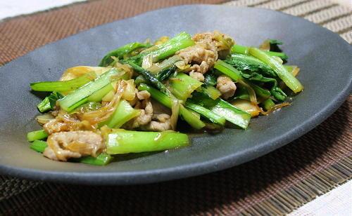 今日のキムチ料理レシピ:小松菜とキムチのオイスターソース炒め