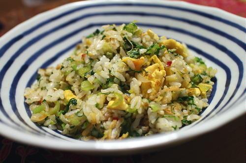 今日のキムチレシピ:小松菜キムチチャーハン