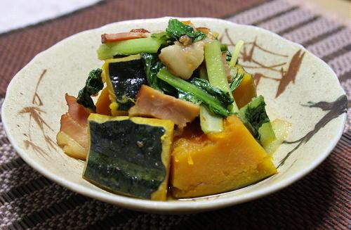 今日のキムチ料理レシピ:かぼちゃの甘辛煮