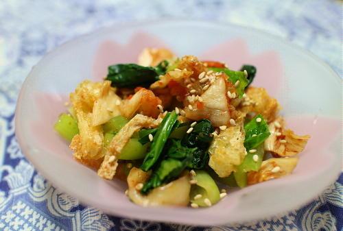 今日のキムチ料理レシピ:小松菜とキムチの和え物