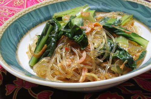 今日のキムチ料理レシピ:小松菜キムチ春雨
