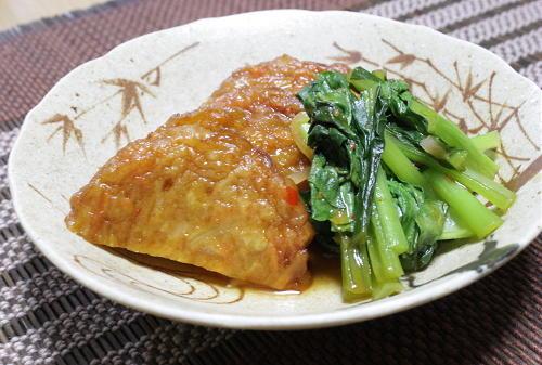 今日のキムチ料理レシピ: さつまあげと小松菜のピリ辛煮
