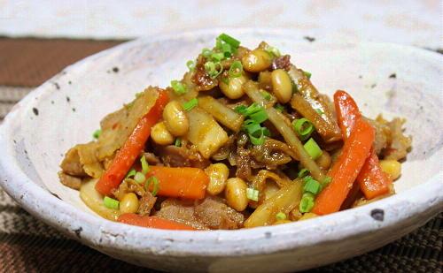 今日のキムチ料理レシピ:根菜とキムチの煮物