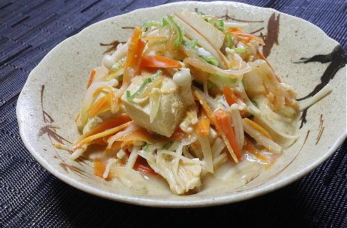 今日のキムチ料理レシピ:高野豆腐とキムチの卵とじ