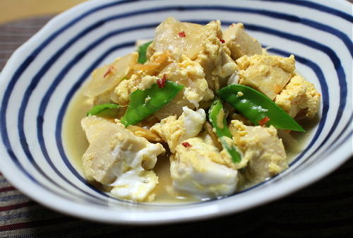 今日のキムチレシピ:高野豆腐とキムチの卵とじ