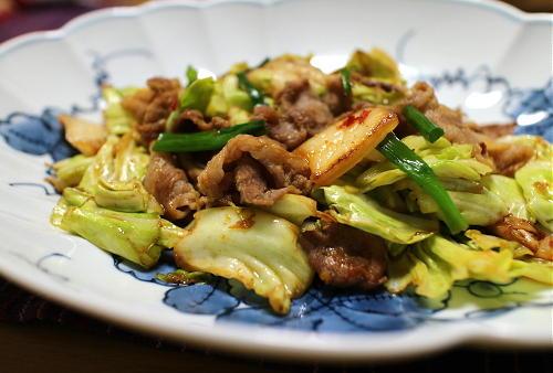 今日のキムチレシピ:キャベツのキムチ炒め