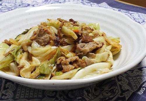 今日のキムチレシピ:豚肉とキャベツとキムチのごまみそ炒め