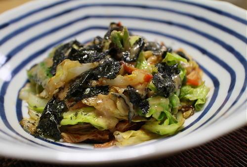 今日のキムチ料理レシピ:キャベツとキムチのごま酢掛け