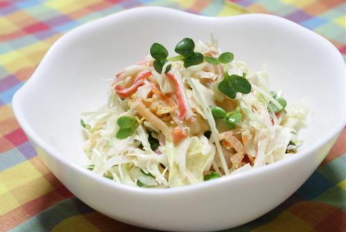 今日のキムチ料理レシピ:キャベツとキムチのサラダ