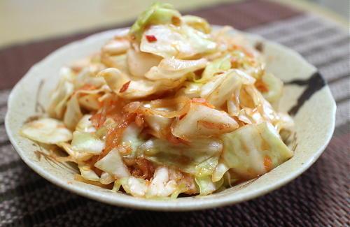 今日のキムチ料理レシピ:キャベツキムチ