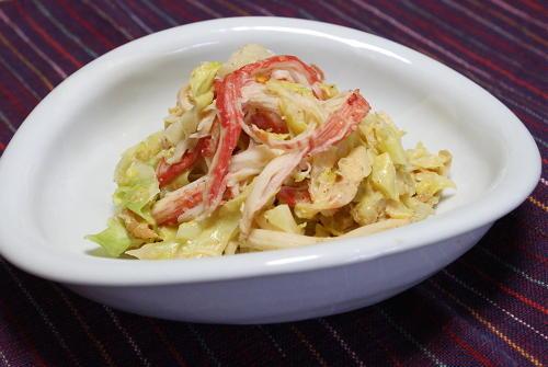 今日のキムチ料理レシピ:キャベツのキムチ味噌マヨ和え