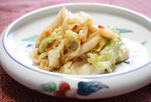 今日のキムチ料理レシピ:キャベツとキムチのみそ風味煮びたし
