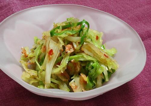今日のキムチ料理レシピ:キャベツとキムチらっきょうのポン酢和え