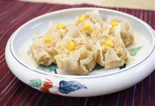今日のキムチ料理レシピ: キムチキャベツシューマイ