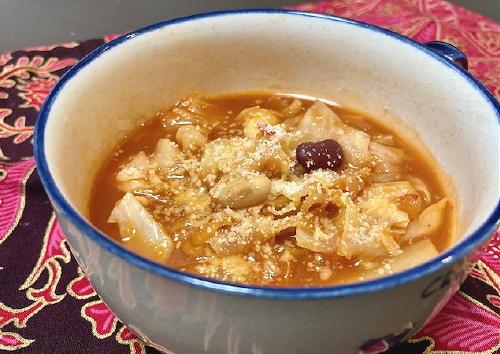 今日のキムチレシピ:キャベツとキムチと豆のスープ