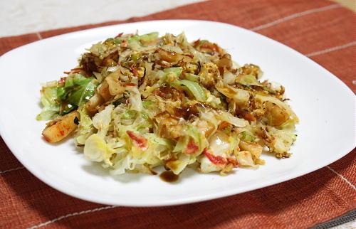 今日のキムチ料理レシピ:キャベツとキムチの卵焼き