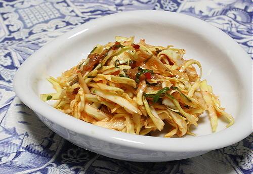 今日のキムチ料理レシピ:キャベツの梅キムチ和え
