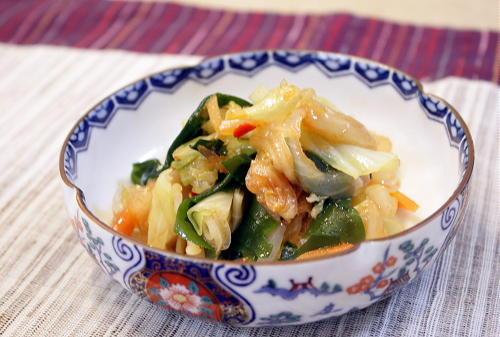 今日のキムチ料理レシピ:キャベツとキムチの中華風和え物