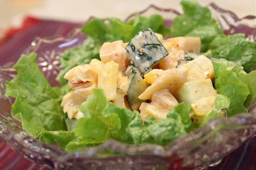 今日のキムチ料理レシピ:大根キムチときゅうりのコロコロサラダ