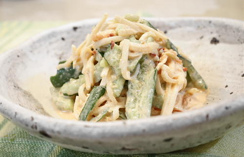 胡瓜と大根のキムチ味噌マヨ和えレシピ
