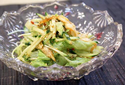 今日のキムチ料理レシピ:きゅうりのキムチサラダ