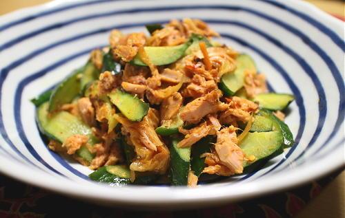今日のキムチレシピ:きゅうりのツナキムチ炒め