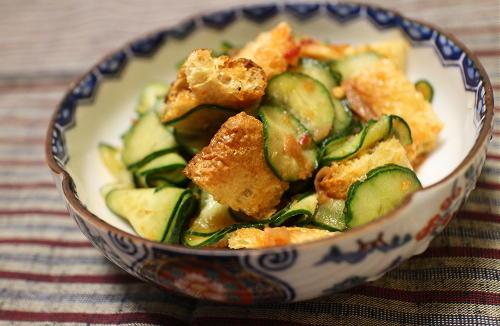 今日のキムチ料理レシピ:きゅうりの梅キムチ和え