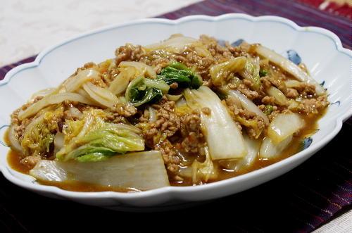 キムチの素de麻婆白菜レシピ