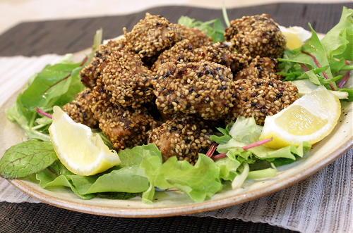 今日のキムチ料理レシピ:マグロの食べる唐辛子ふりかけ揚げ