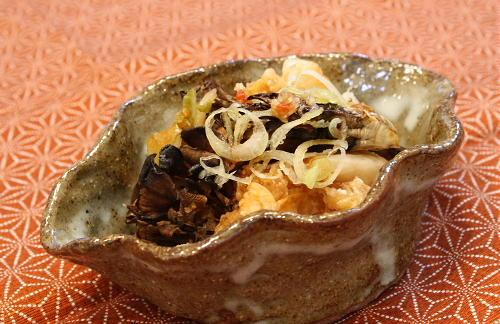 今日のキムチ料理レシピ:焼きまいたけのキムチおろし和え