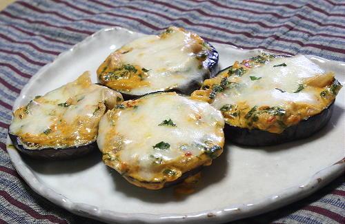 今日のキムチ料理レシピ:丸茄子のキムチ味噌焼き