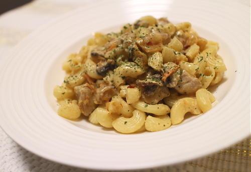 今日のキムチレシピ:マッシュルームキムチパスタ