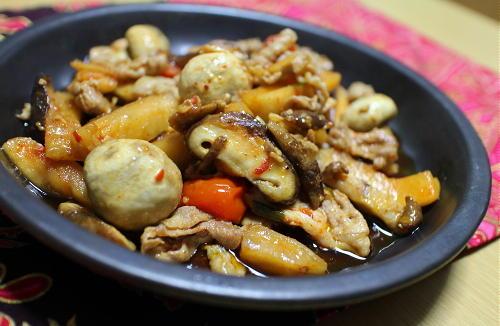 豚肉と大根キムチのアヒージョレシピ