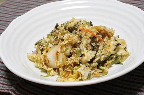 今日のキムチ料理レシピみぶなキムチ炒飯: