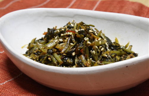 今日のキムチ料理レシピ:みぶなの味噌キムチ炒め